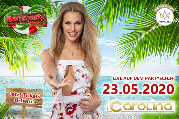 Mallorca-Shootingstar Carolina tritt am 23.05. auf dem Partyboot in Hamburg auf